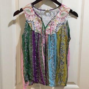 ANTHROPOLOGIE one September sleeveless blouse
